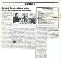 Article: Behind Toole's local color lurks strong social criticism