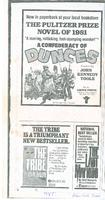 Advertisement for A Confederacy of Dunces