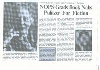 Article:  NOPS Grads Book Nabs Pulitzer for Fiction