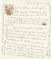 Letter from Thelma Toole to an unknown addressee