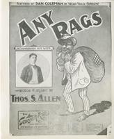 Sheet Music Cover: Any Rags