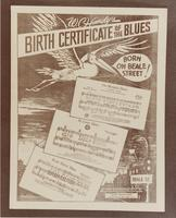 Sheet Music Cover: Birth Certificate of the Blues