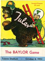 Tulane University Football Program-The Greenie;  Baylor University vs. Tulane