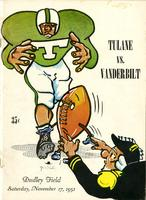 Vanderbilt University Football Program; Tulane vs. Vanderbilt