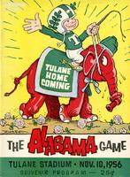 Tulane University Football Program-The Greenie; Alabama vs. Tulane
