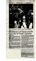 Confederacy of Clones parade is parody of Toole's Ignatius
