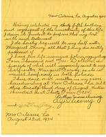 Arthur J. Ducoing's last will and testament