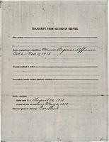 Transcript of Record of Service