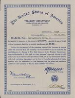 War Risk Insurance certificate
