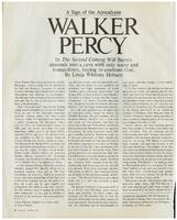 Article:  A Sign of the Apocalypse, Walker Percy