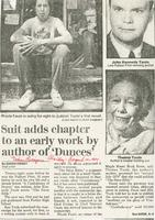 Article:  Suit adds chapter to an early work by author of Dunces
