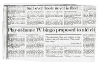 Article:  Suit over Toole novel is filed