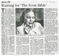 Article:   Waiting for  The Neon Bible