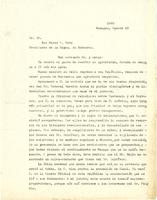 Letter from Joaquín Zavala Solís to Doctor Don Marco A. Soto, President of Honduras