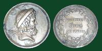 Hospices Civils de Paris, (silver medal) with a bust of Aesculapius with staff