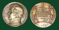 William Beaumont (1785-1853) commemorative bronze - XIII International Physiological Congress in Boston, 1929
