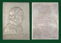 Claude Bernard aluminium plaque by A. Borrel for Deschiens, 1913