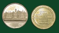 General Institution for the Blind in Birmingham, England - Medal commemorating the laying of a corner stone in 1851