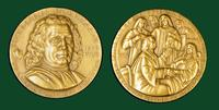 Herman Boerhaave bronze medal designed by Abram Belskie - Medallic Art Company [MAco 69-14-12]