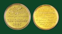 Charity Hospital gold medal for Scholarship and Achievement awarded to J. N. Charbonnet (Univ. La. grad. 1887)
