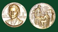 Madame Marie Curie bronze medal designed by Abram Belskie - Medallic Art Company [MAco 69-14-48]