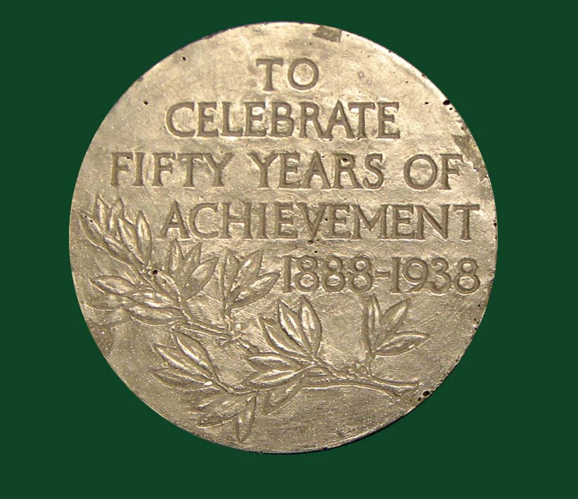 American Association of Anatomists 50th anniversary commemorative medal: TO | CELEBRATE | FIFTY YEARS OF ACHIEVEMENT | 1888-1938