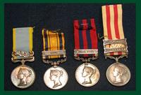 Medical awards from Great Britain -  British campaign medals-four ribboned medals