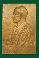 Harvey Cushing, Moseley Professor of Surgery (Harvard Medical School) commemorative plaque (1912-1932) by Paul Adrian Brodauer
