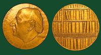Henri Mondor commemorative bronze medal by M. Mocquot, 1963