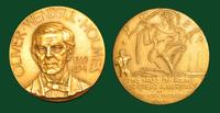 Oliver Wendell Holmes, Sr. (Elected Hall of Fame for Great Americans 1915), medal by Michael Lantz, 1965