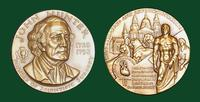 John Hunter bronze medal designed by Abram Belskie - Medallic Art Company [MAco 69-14-14]