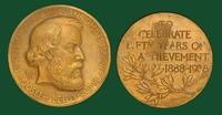 American Association of Anatomists 50th anniversary commemorative medal honoring Joseph Leidy (1938)