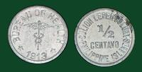 Culion Island Leper Colony, 1/2 centavo - Leprosarium coinage (Phillippines, 1913)