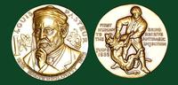 Louis Pasteur bronze medal designed by Abram Belskie - Medallic Art Company [MAco 69-14-33]