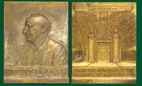 Simon Flexner commemorative bronze plaque from the members of the Rockefeller Institute, 1935