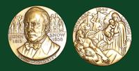 John Snow bronze medal designed by Abram Belskie - Medallic Art Company [MAco 69-14-29]