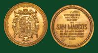 Universidad Nacional Mayor de San Marcos (Lima, Peru) bronze commemorative medal (1551-1951)