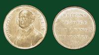 Doctor Willis Commemorative Medal (white) on the Recovery of King George III, 1789