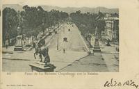 522-Paseo de La Reforma Chapultepec con la Estatua