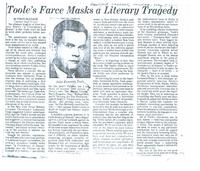Toole's Farce Masks a Literary Tragedy