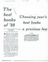 The best books of '80-Choosing year's best books - a precious few