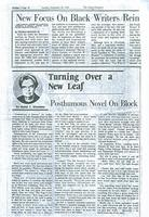 Turning Over a New Leaf-Posthumous Novel On Block