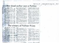 How Dead Author Won a Pulitzer