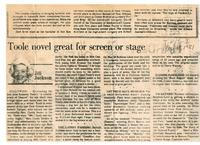 Toole novel great for screen or stage