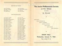 1950-01-11 Junior Philharmonic Society of New Orleans concert program