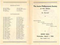 1950-03-01 Junior Philharmonic Society of New Orleans concert program