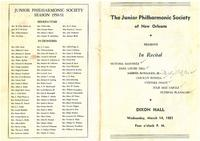 1951-03-14 Junior Philharmonic Society of New Orleans concert program