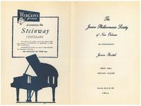 1954-03-20 Junior Philharmonic Society of New Orleans concert program