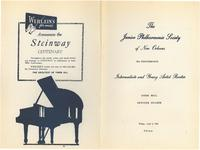 1954-04-02 Junior Philharmonic Society of New Orleans concert program