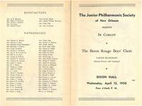 1950-04-12 Junior Philharmonic Society of New Orleans concert program